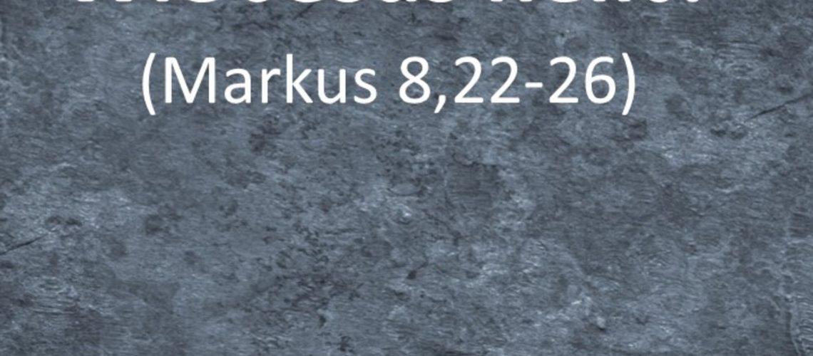 Markusevangelium 32 - Wie Jesus heilt?